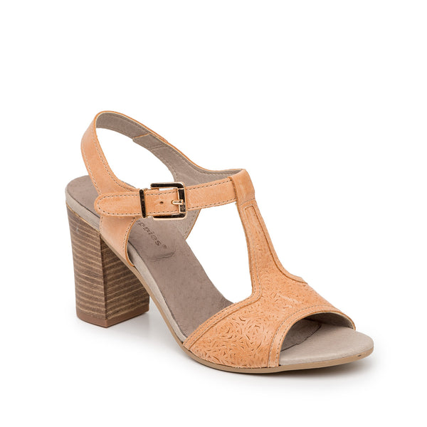 Sandália Camel Dress T-Strap