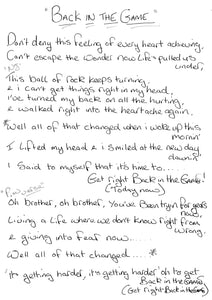 Street Rituals Lyric Cards - Signed