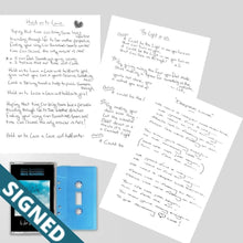 Signed Lyric Sheets + Is Love Enough? (Cassette)