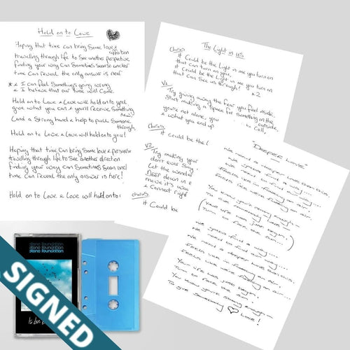 Signed Lyric Sheets + Is Love Enough? (Cassette) | Stone Foundation Official Store