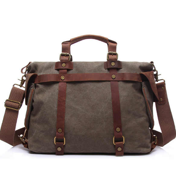 Mens Retro Canvas Handbag