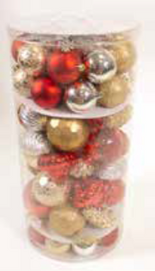 70 Piece Christmas Bauble Set
