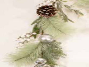 6ft / 180cm White Berry and Silver Bauble Christmas Garland