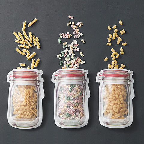 Mason Jar Shaped Sealable Storage Bags