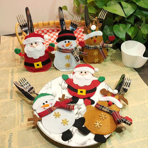 Fun Christmas Cutlery Holders