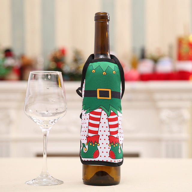 Mini Christmas Bottle Aprons