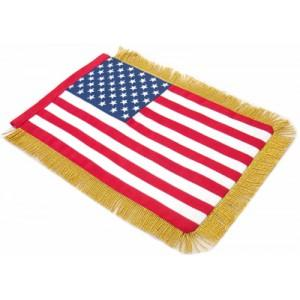 1066-United States table size double sided hand embroidered Flag-