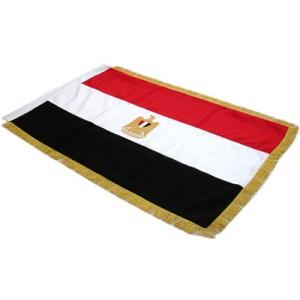1006-Egypt Flag. Full size double sided hand embroidered-