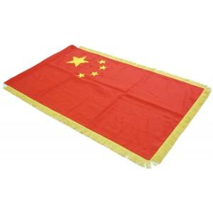 China Full Size Double Sided Hand Embroidered Flag