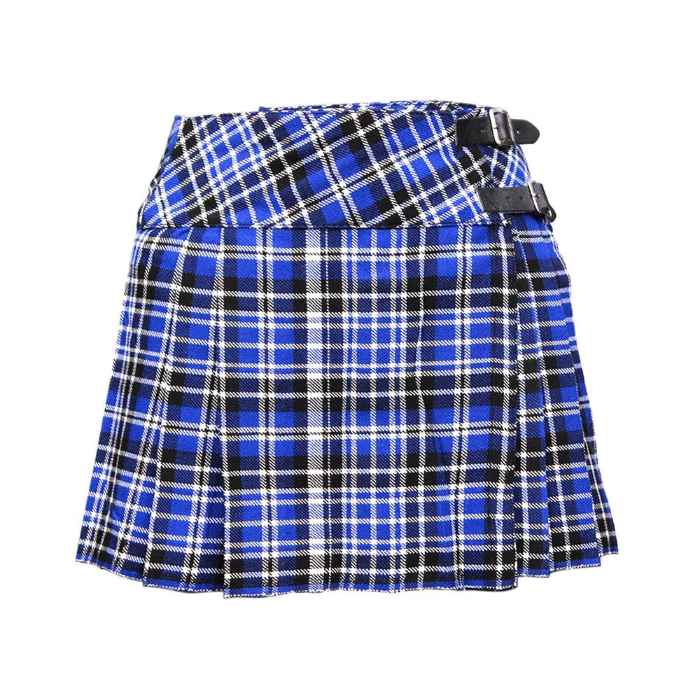 Acrylic Wool Ladies Tartan Billie Kilt Pleated