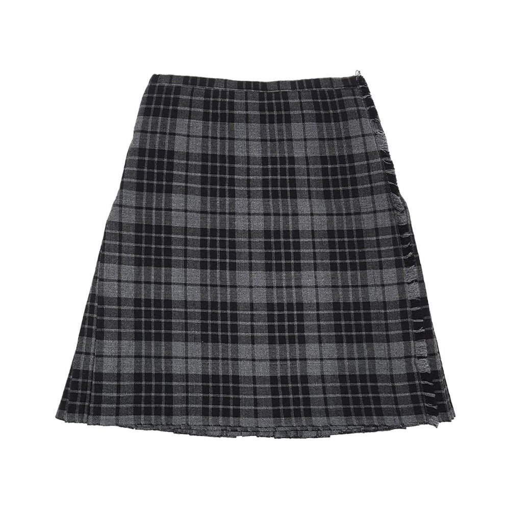 Ladies Tartan Billie Kilt Pleated Plain Front