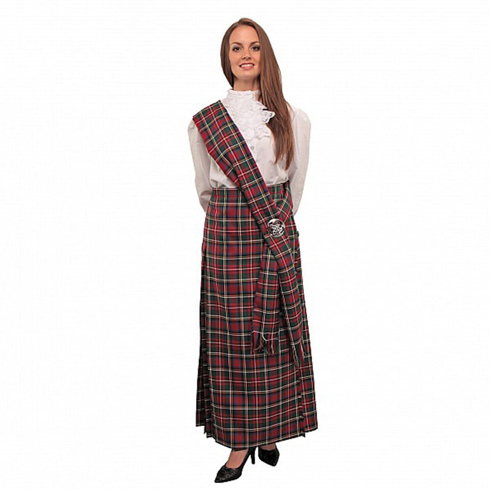 Ladies Tartan Hostess Kilt With Sash 90+ Tartans In Stock