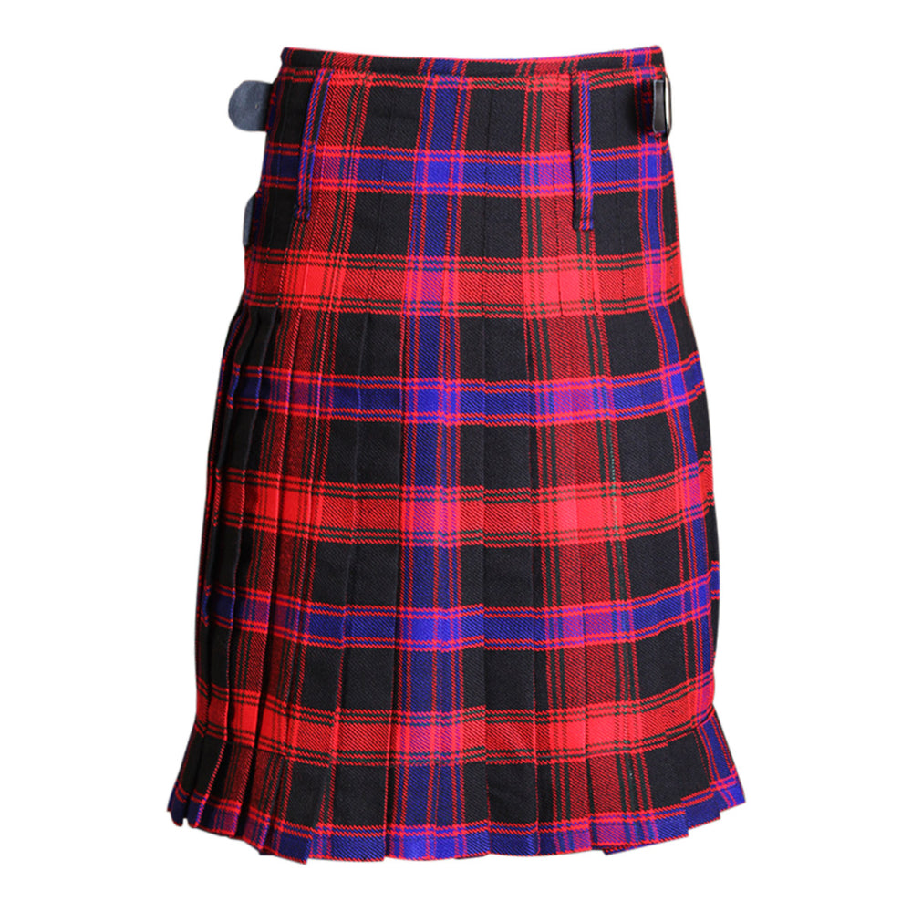 Acrylic Wool Ladies Tartan Regular Kilt Pleated