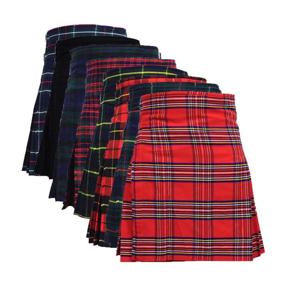 Acrylic Wool Men Scottish Kilt Heavy Weight