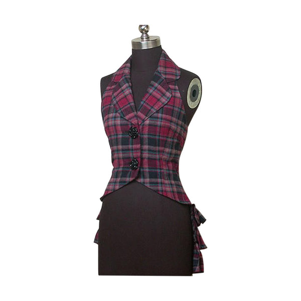 Scottish Tartan Slim Blouse or Vest Lolita With 90+ Tartans In Stock - House Of Scotland