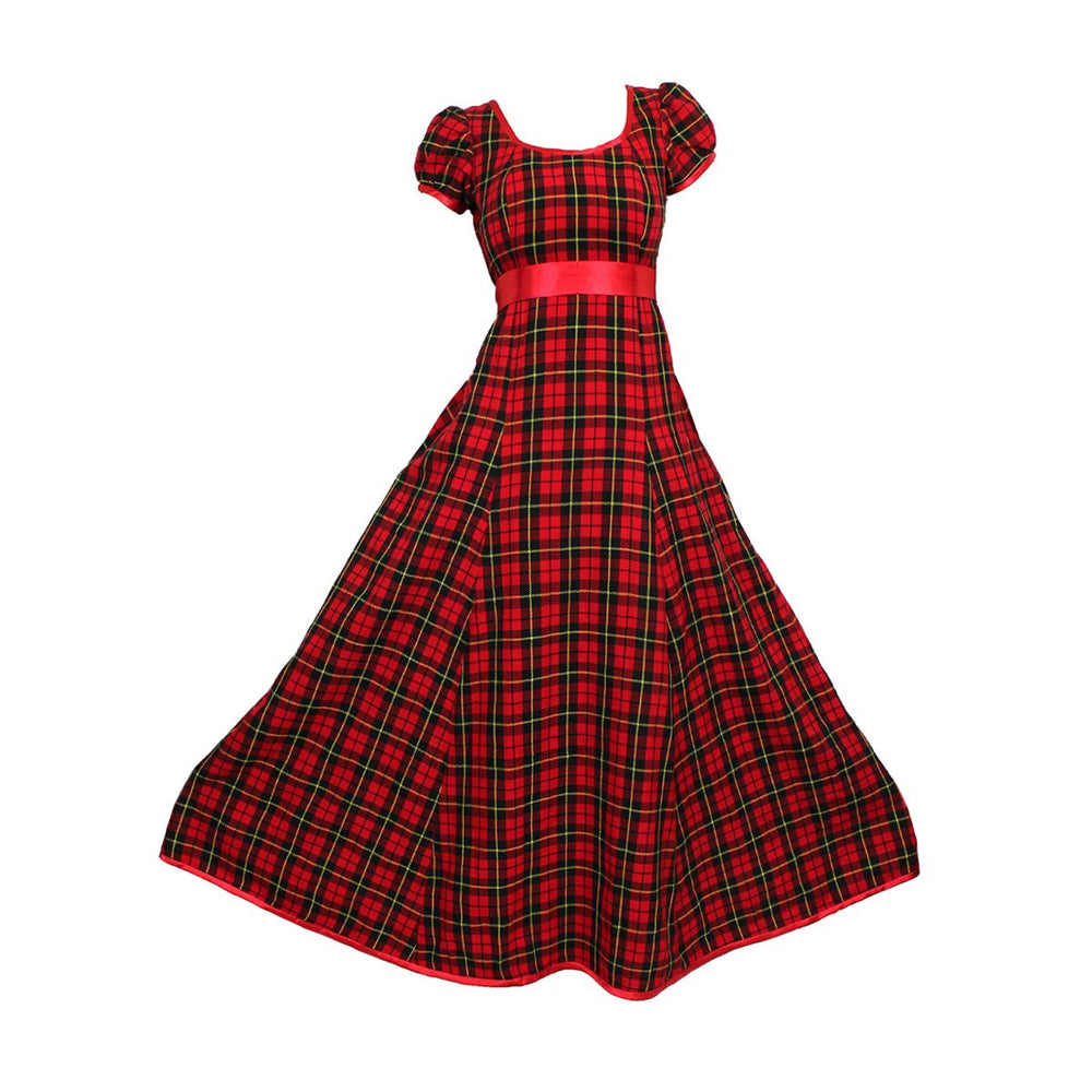 Simple Tartan Evening Gown