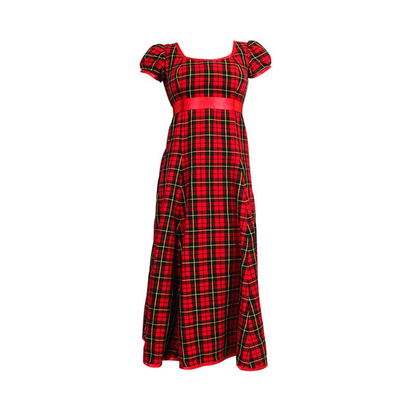house-of-scotland-acrylic-wool-simple-tartan-evening-gown-ted-wallace-tartan-front