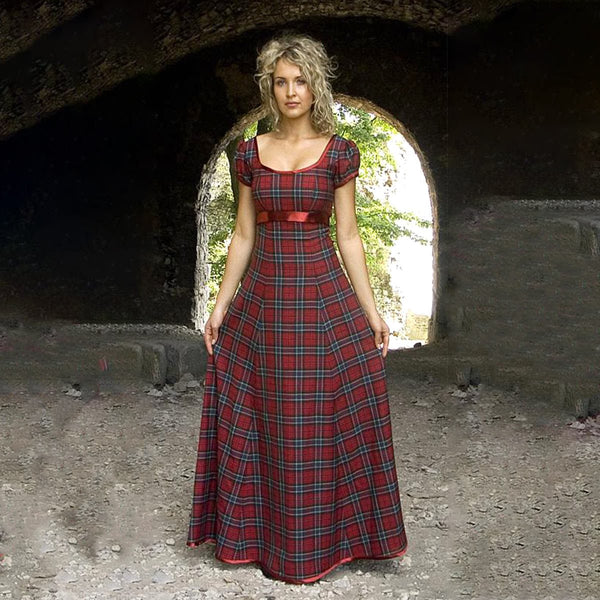 house-of-scotland-acrylic-wool-simple-tartan-evening-gown-ted-wallace-tartan-front-pose