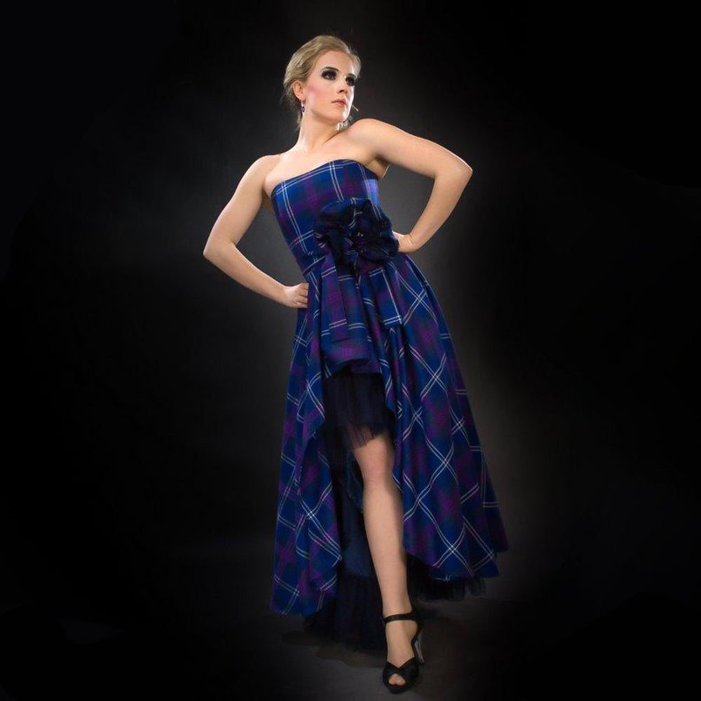 Sofia Long Tartan Evening Dress