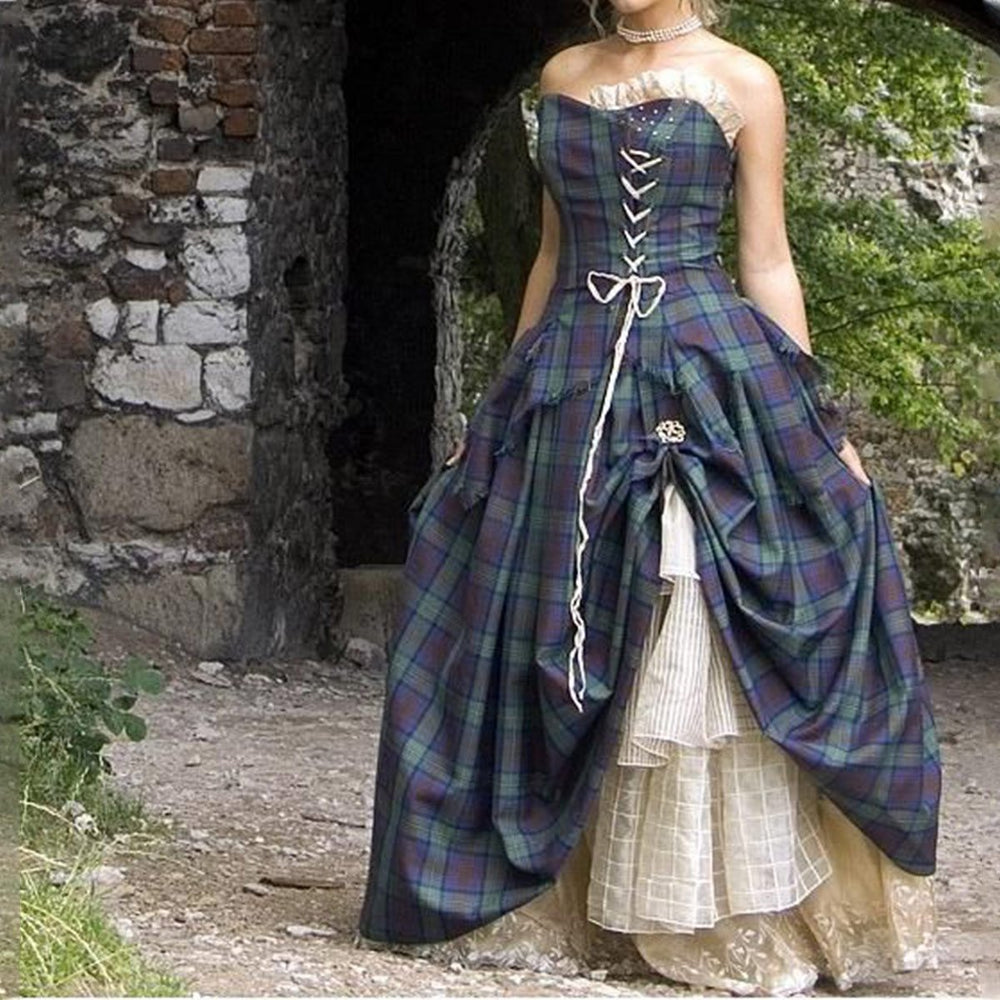 Tartan Wedding Dress Bella