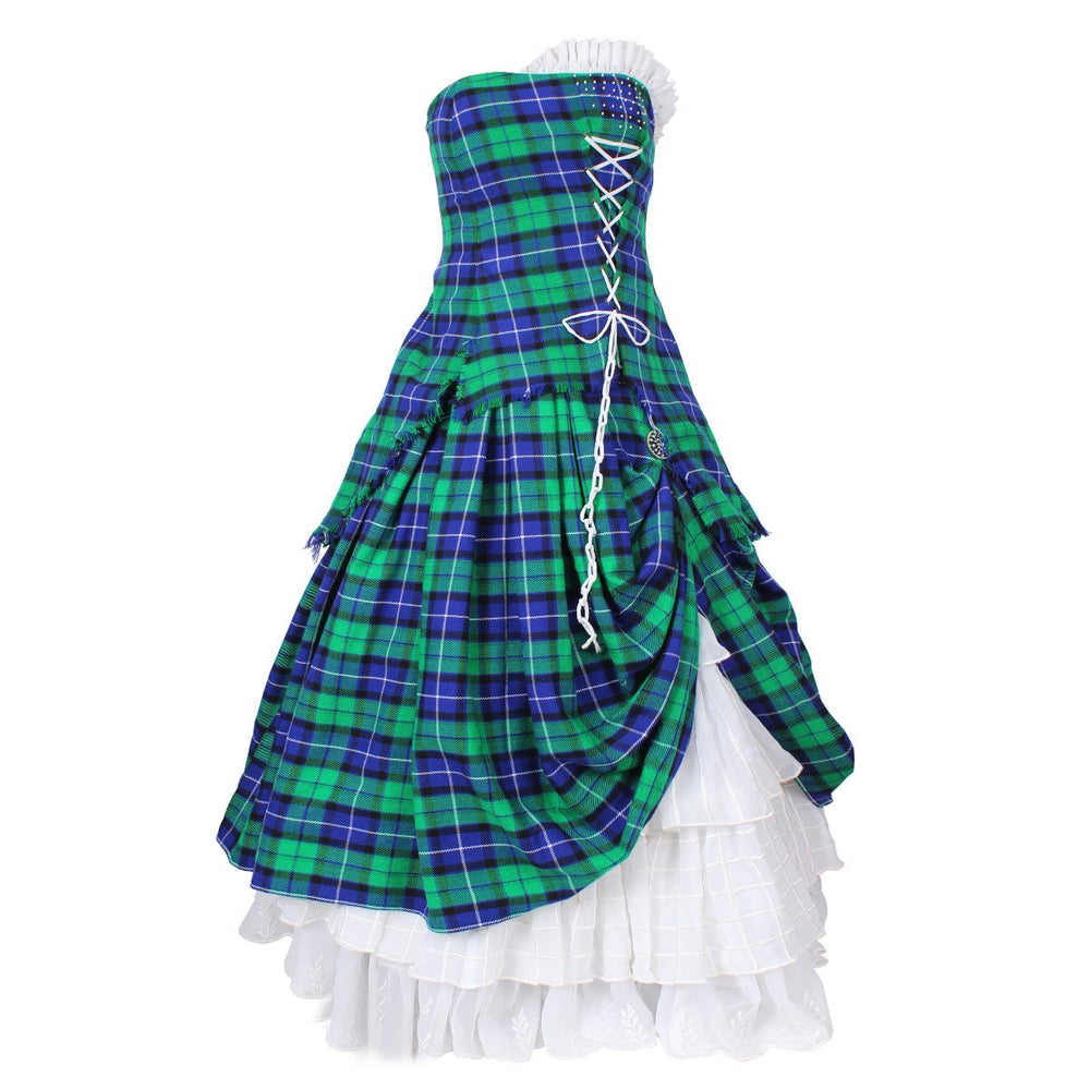 Tartan Wedding Dress Bella with 90+ Tartans In Stock