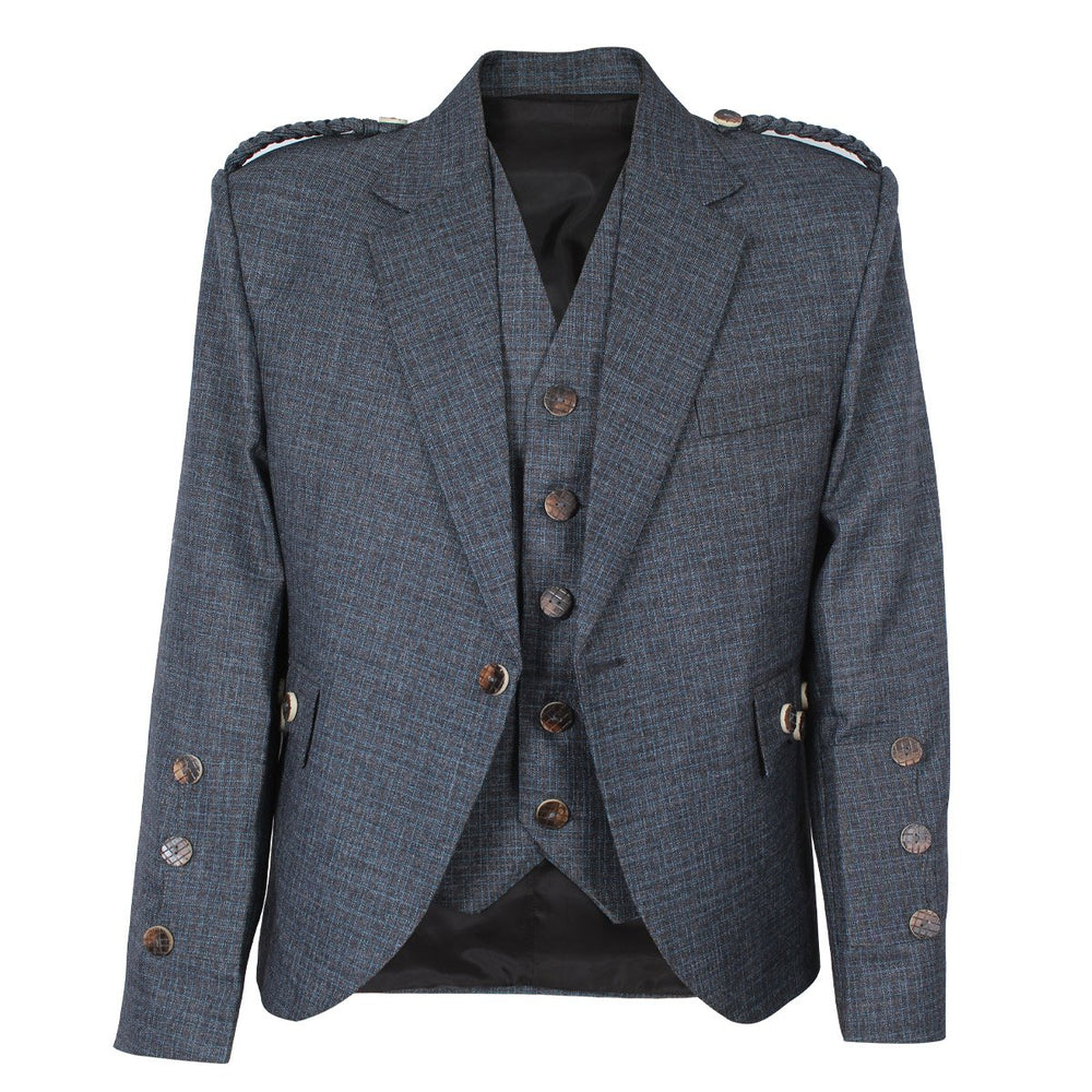 Argyll Jacket Blue Serge Wool With Vest