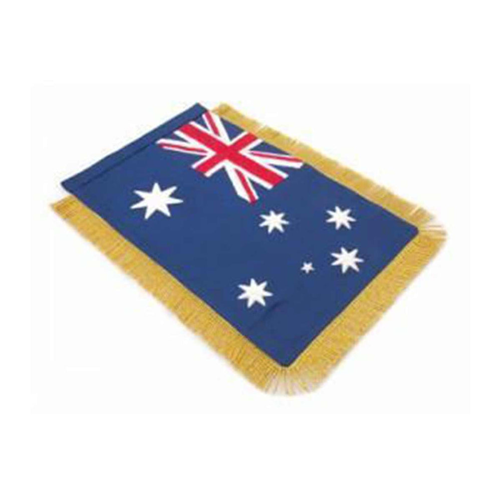 Australia Table Size Double Sided Hand Embroidered Flag