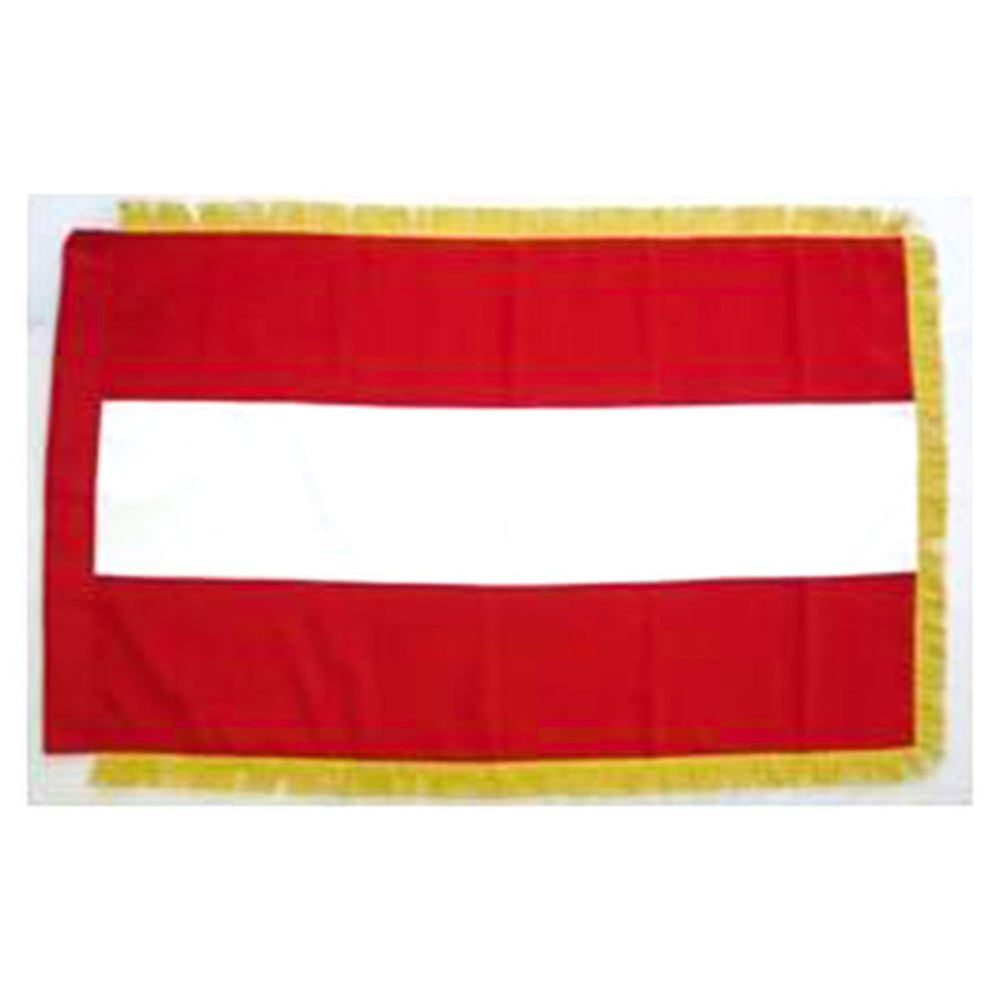 Austria Full Size Double Sided Hand Embroidered Flag