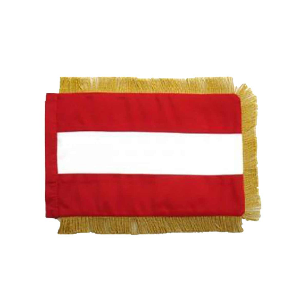 Austria Table Size Double sided Hand Embroidered Flag