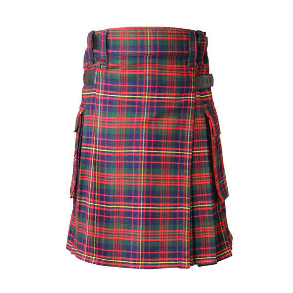 house-of-scotland-cameron-of-erracht-modern-tartan-contemporary-kilt-leather-straps-front