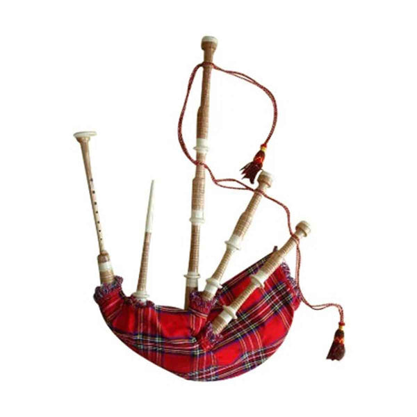 Caucus Wood Highland Bagpipe Ivory Color Plastic Fittings - House Of Scotland