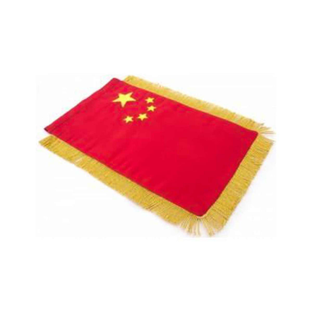 China Table Size Double Sided Hand Embroidered Flag