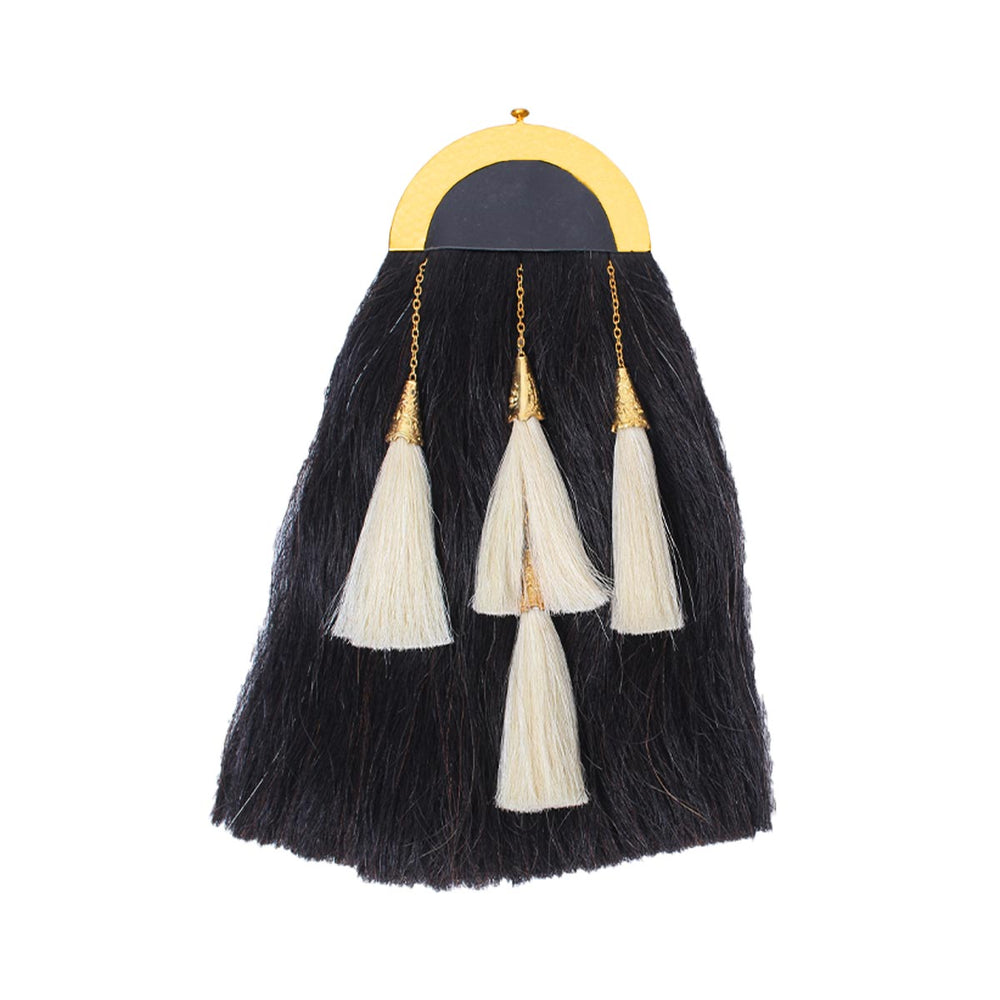Clan Mackenzie Horse Hair Sporran With 4 Tassels And Chain Belt