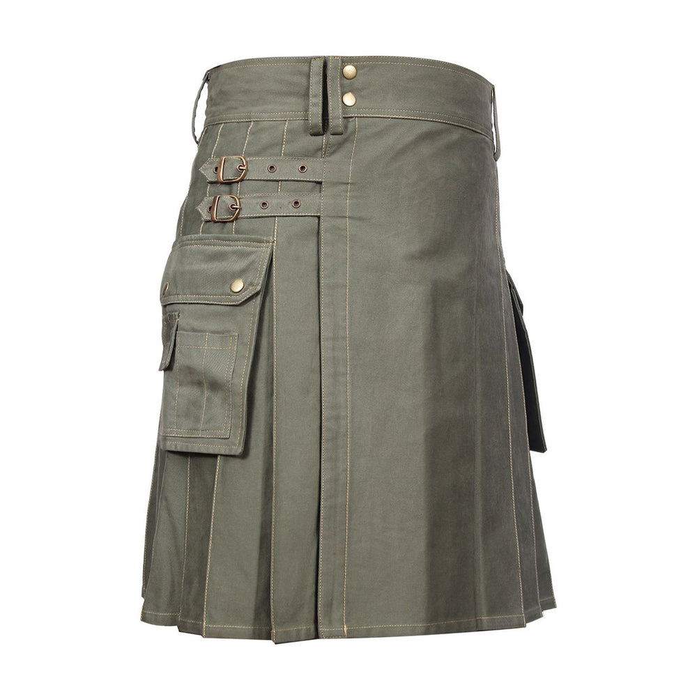 Classic Men Utility Kilt Heavy Cotton