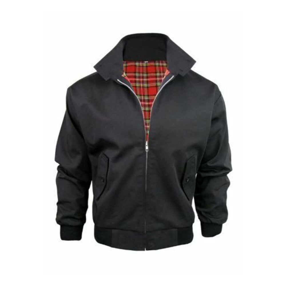 Classic Vintage Retro Harrington Bomber Jacket Black