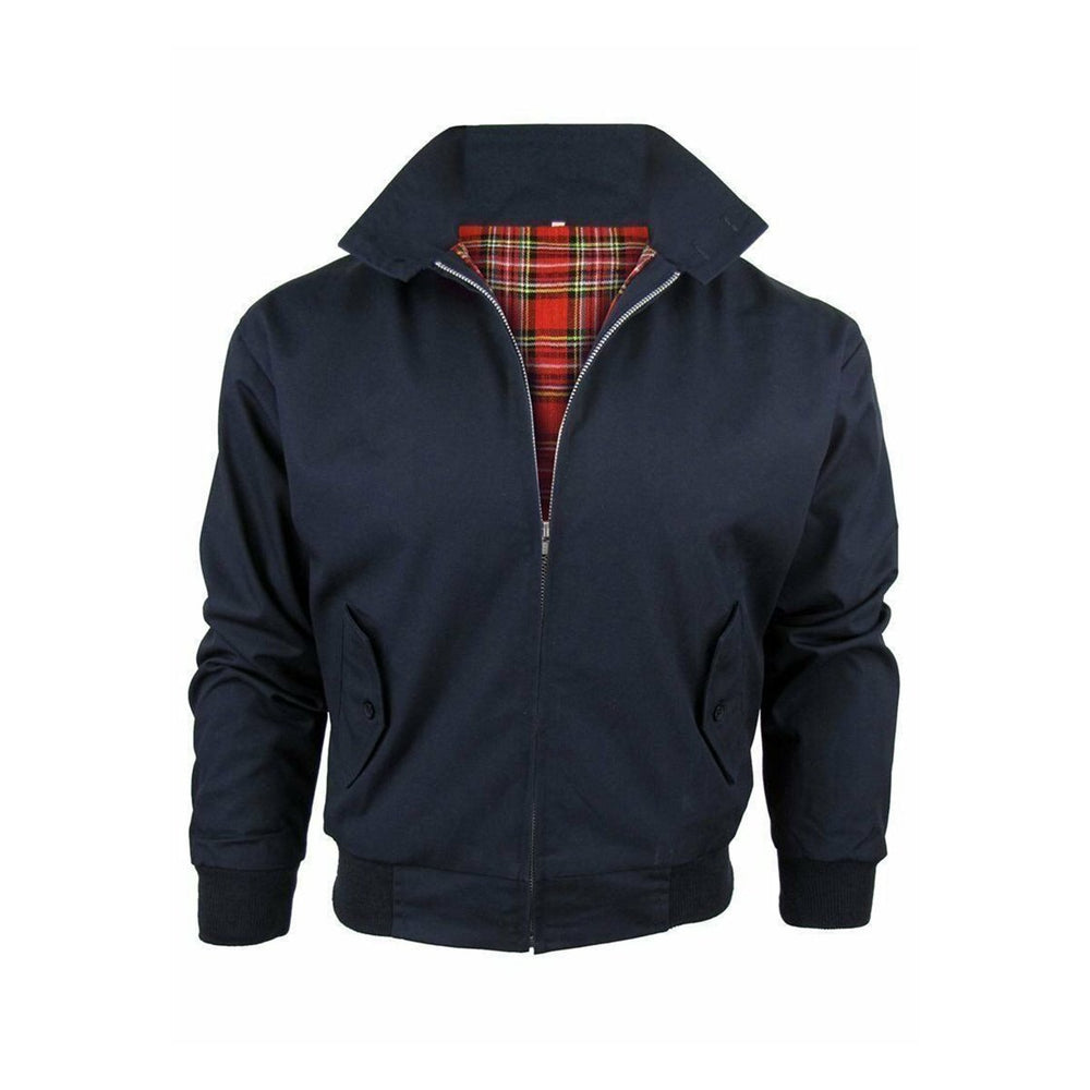 Classic Vintage Retro Harrington Bomber Jacket Navy