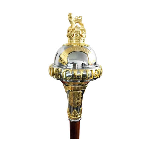 Custom Made Drum Major Ceremonial Mace or Stave With Battle Honors - House Of Scotland