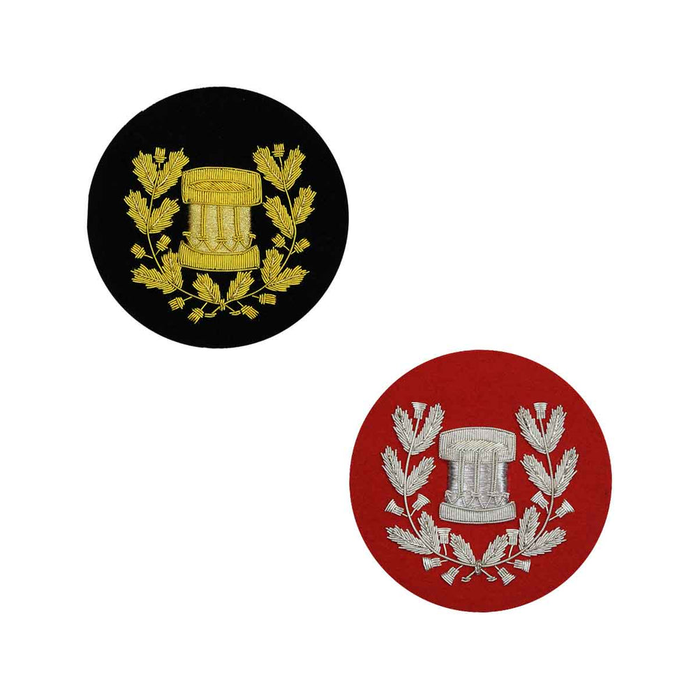 Drum Major Badge Gold or Silver Bullion Hand Embroidered