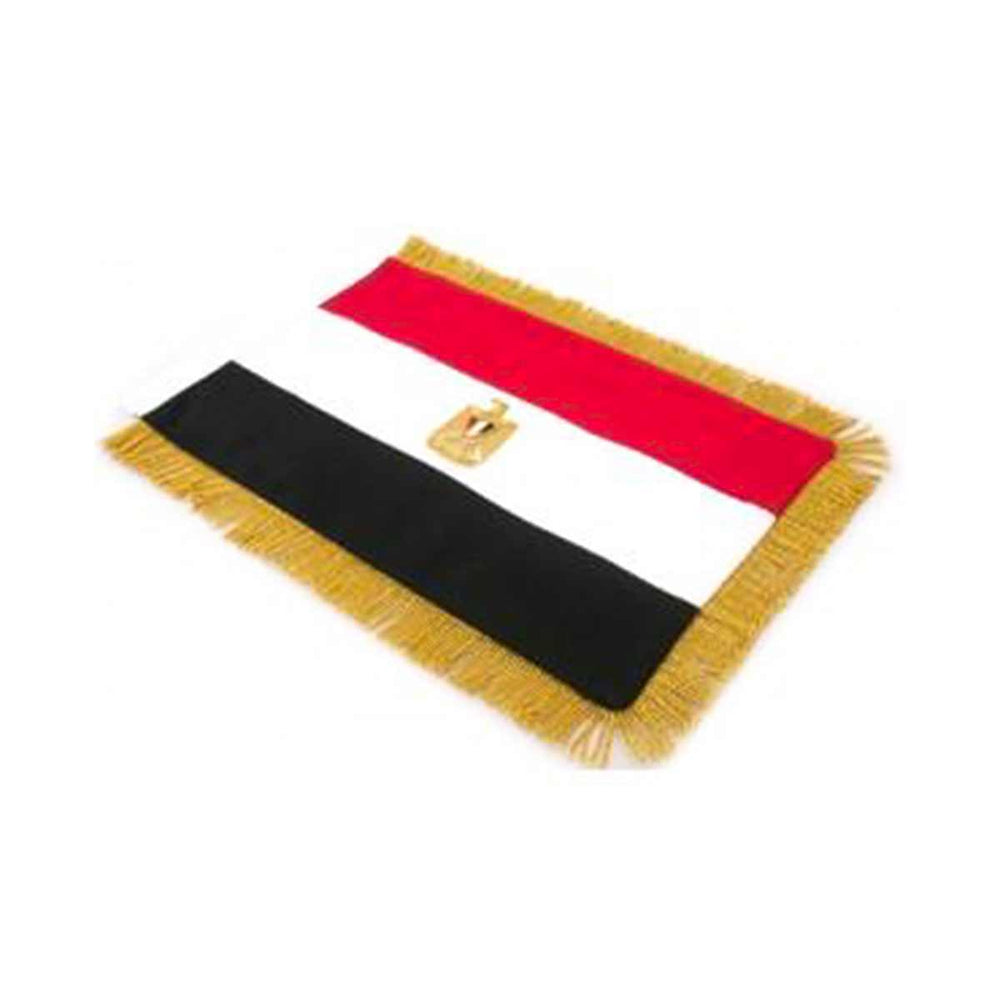 Egypt Table Size Double Sided Hand Embroidered Flag
