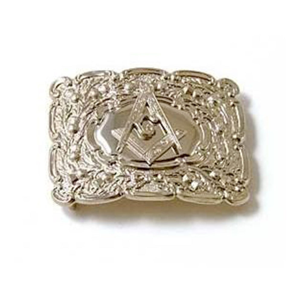 Embossed Masonic Badge Buckle