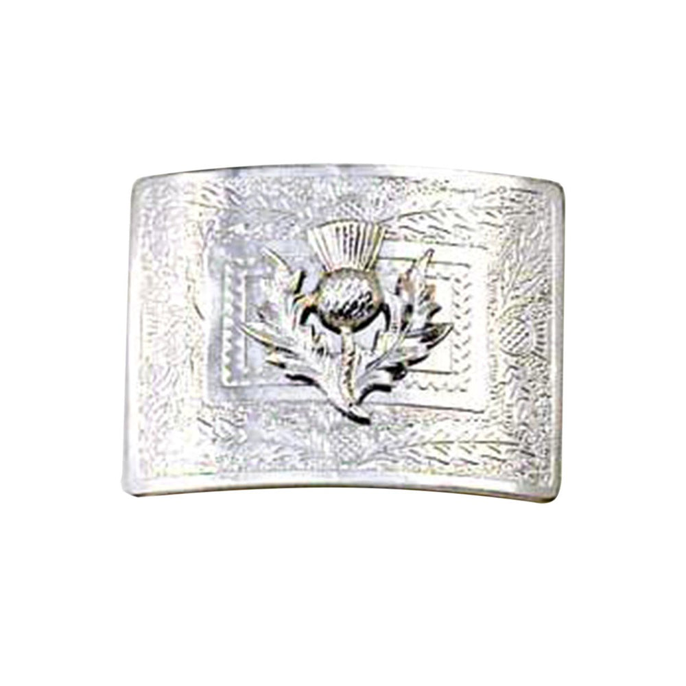 Embossed Thistle Flower Badge Waist Belt Buckle