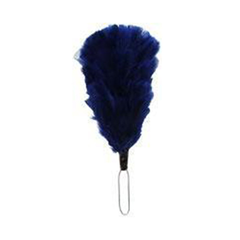 Feather Hackle Navy Blue 4 Inches
