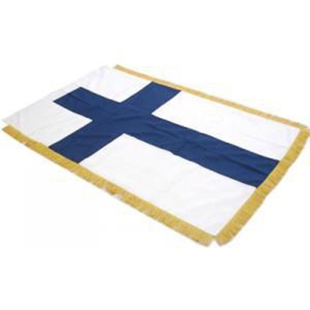 Finland Full Size Double Sided Hand Embroidered Flag