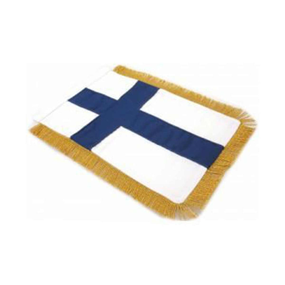 Finland Table Size Double Sided Hand Embroidered Flag