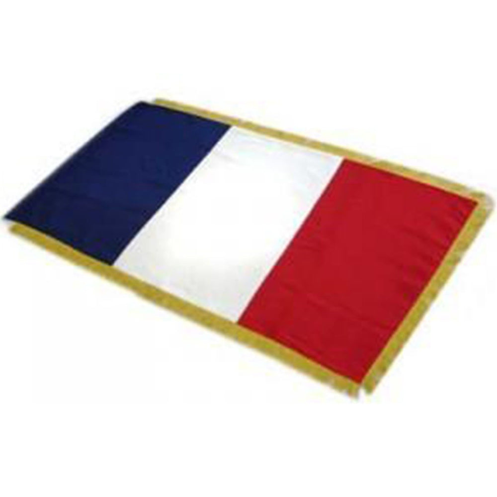 France Full Size Double Sided Hand Embroidered Flag