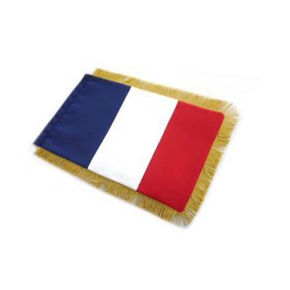 France Table Size Double Sided Hand Embroidered Flag