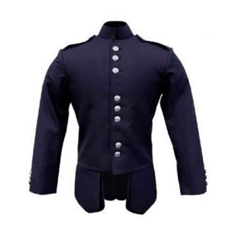 Gabardine Military Jacket Navy Blue