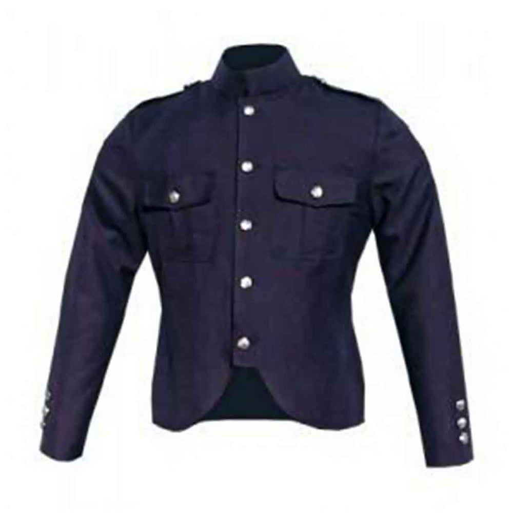 Gabardine Police Jacket Navy Blue