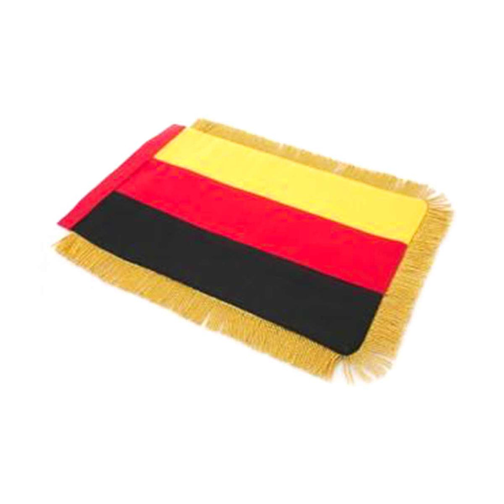 Germany Table Size Double Sided Hand Embroidered Flag