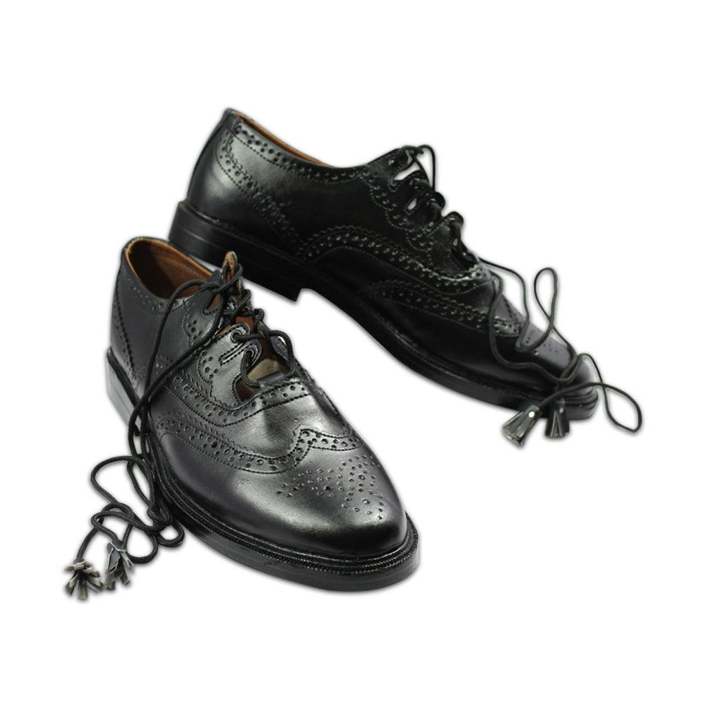 Scottish Ghillie Brogue Shoes Genuine or Patent Leather